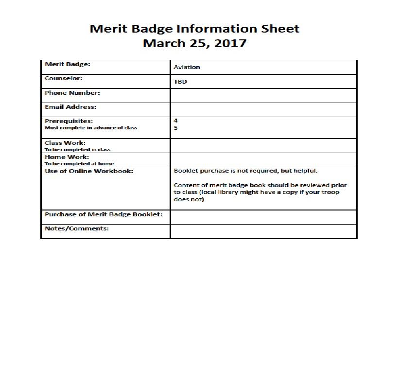 Pathway to Adventure Council Des Plaines Valley Community Merit – Family Life Merit Badge Worksheet